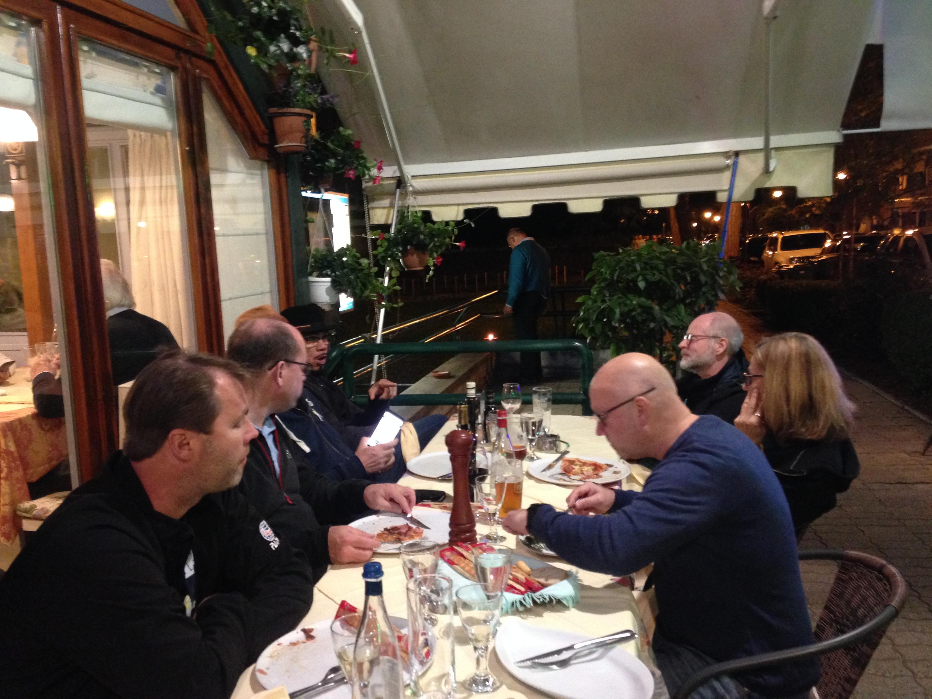 Middag på utesrevering i Montegrotto